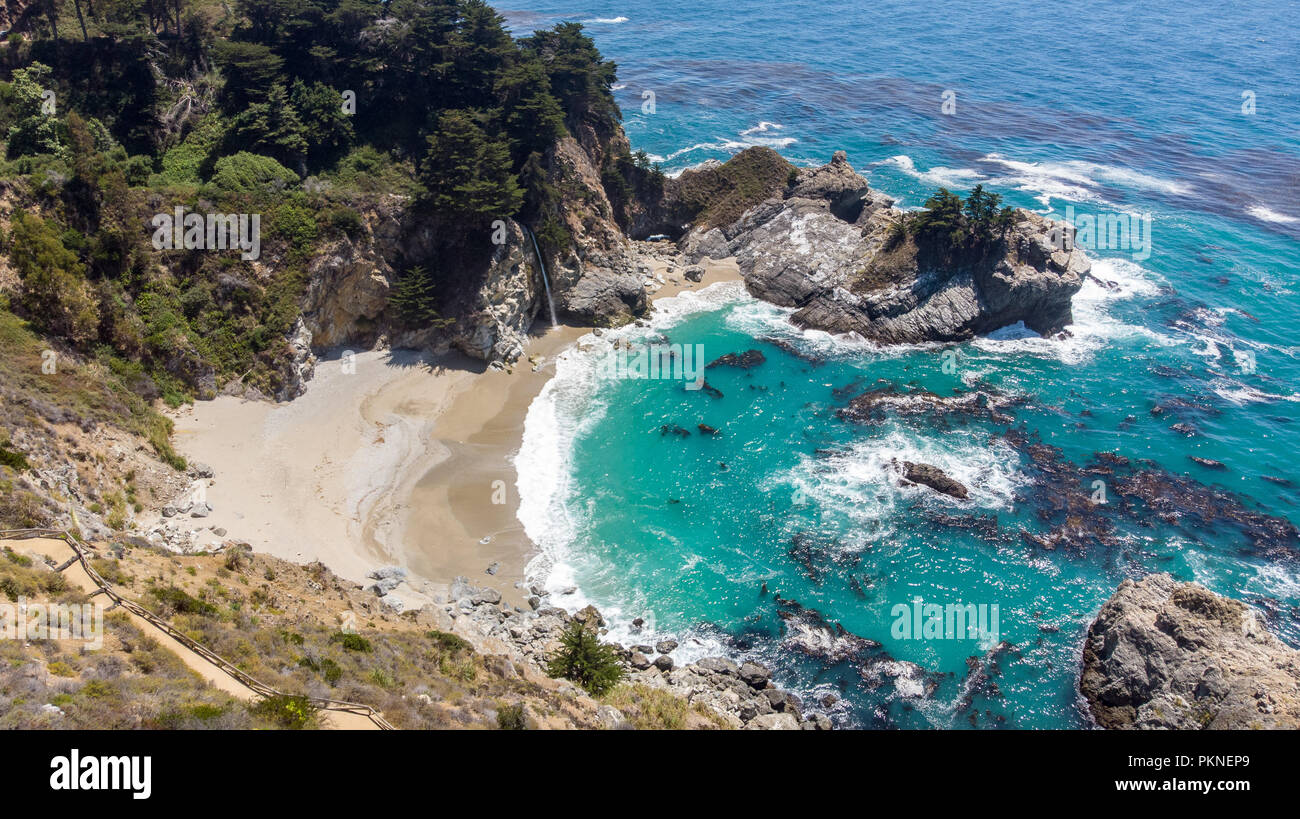 Big Sur, California from drone - Stock Image