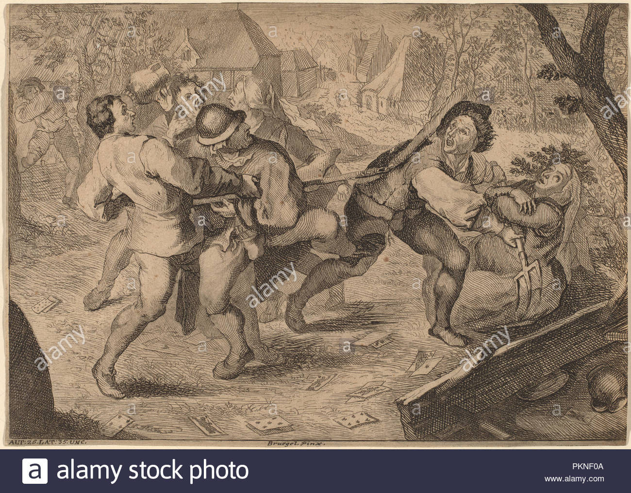 Dated: published 1728/1735. Medium: engraving. Museum: National Gallery of  Art, Washington DC. Author: Anton Joseph Prenner after Pieter Bruegel the  Elder.