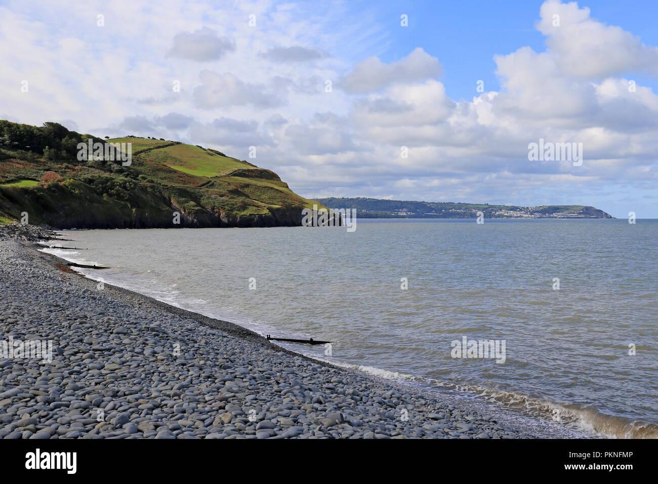 South Beach, Aberaeron, Cardigan Bay, Ceredigion, Wales, Great Britain, United Kingdom, UK, Europe - Stock Image