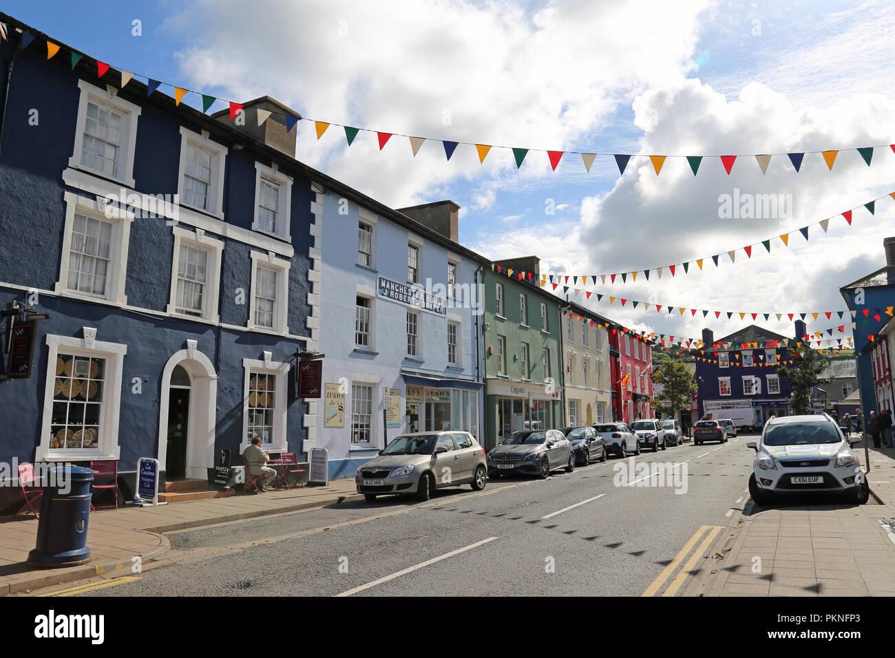 Market Street, Aberaeron, Cardigan Bay, Ceredigion, Wales, Great Britain, United Kingdom, UK, Europe - Stock Image
