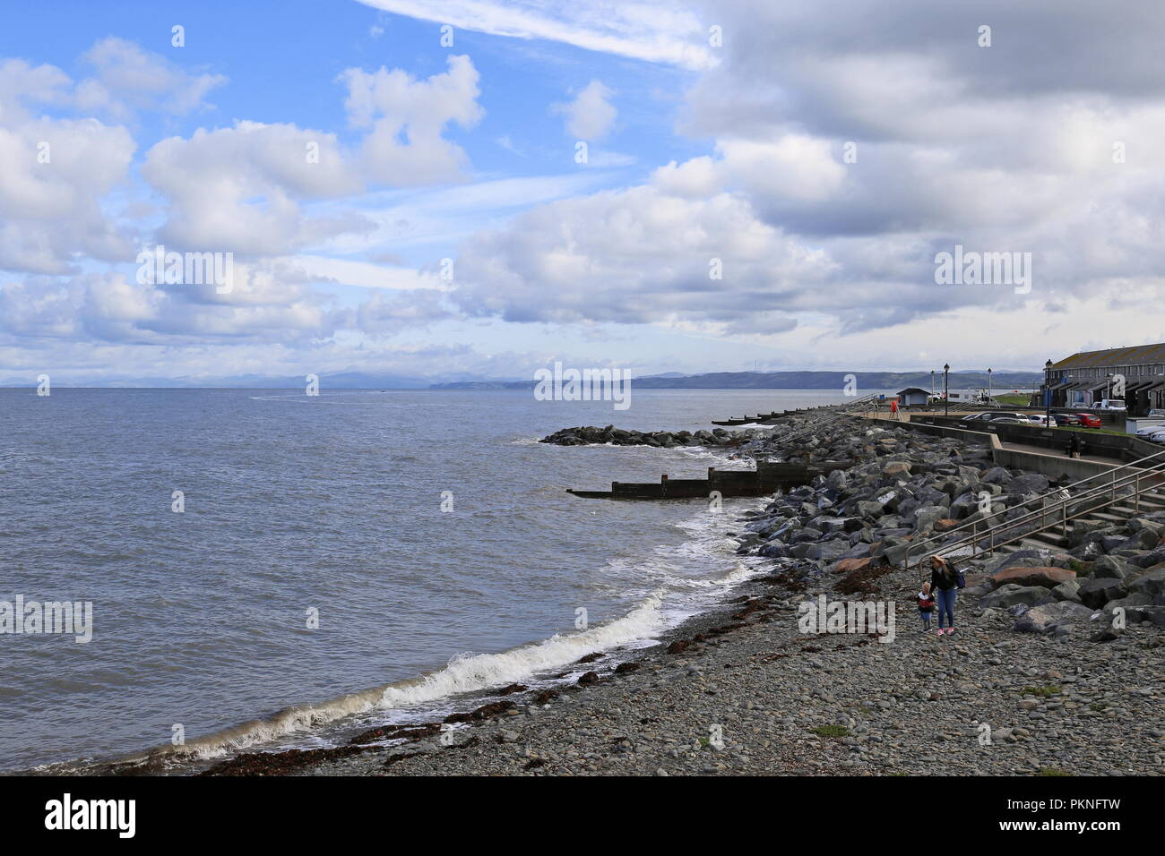 North Beach, Aberaeron, Cardigan Bay, Ceredigion, Wales, Great Britain, United Kingdom, UK, Europe - Stock Image