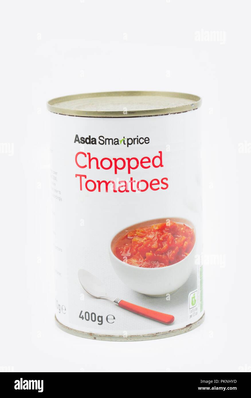 A Tin Of Asda Smart Price Tinned Chopped Tomatoes England Uk