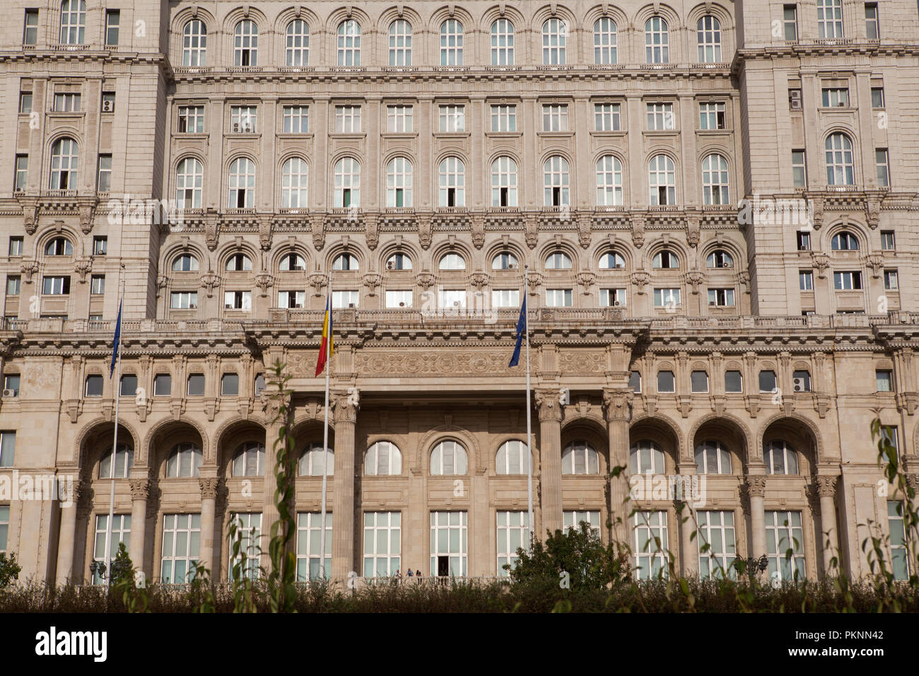Palace of the Parliament in Bucharest Stock Photo