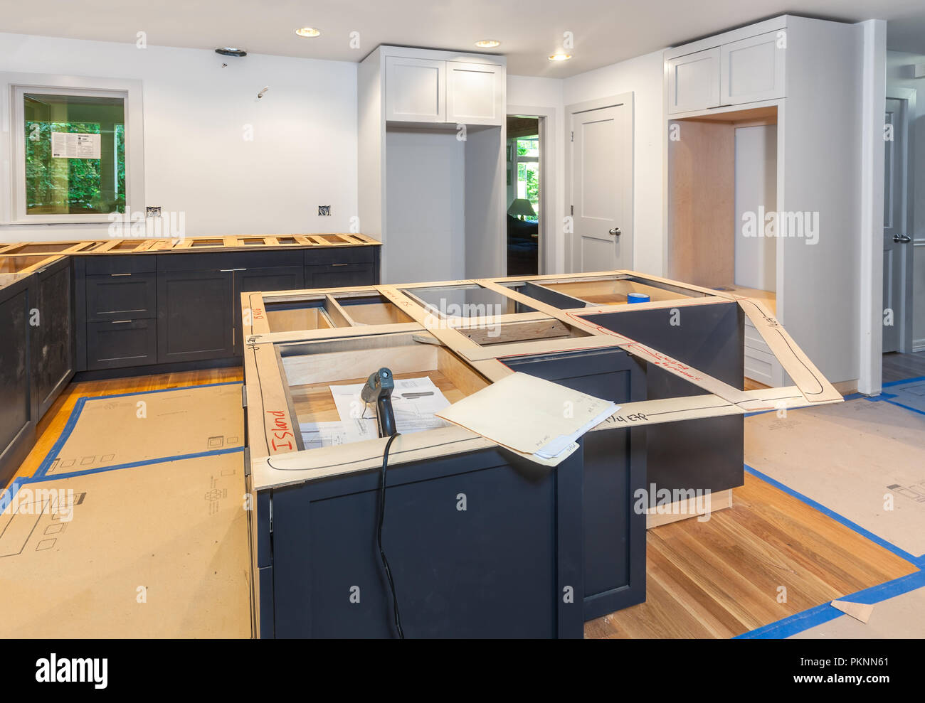 making balsa wood templates for kitchen countertops the island and