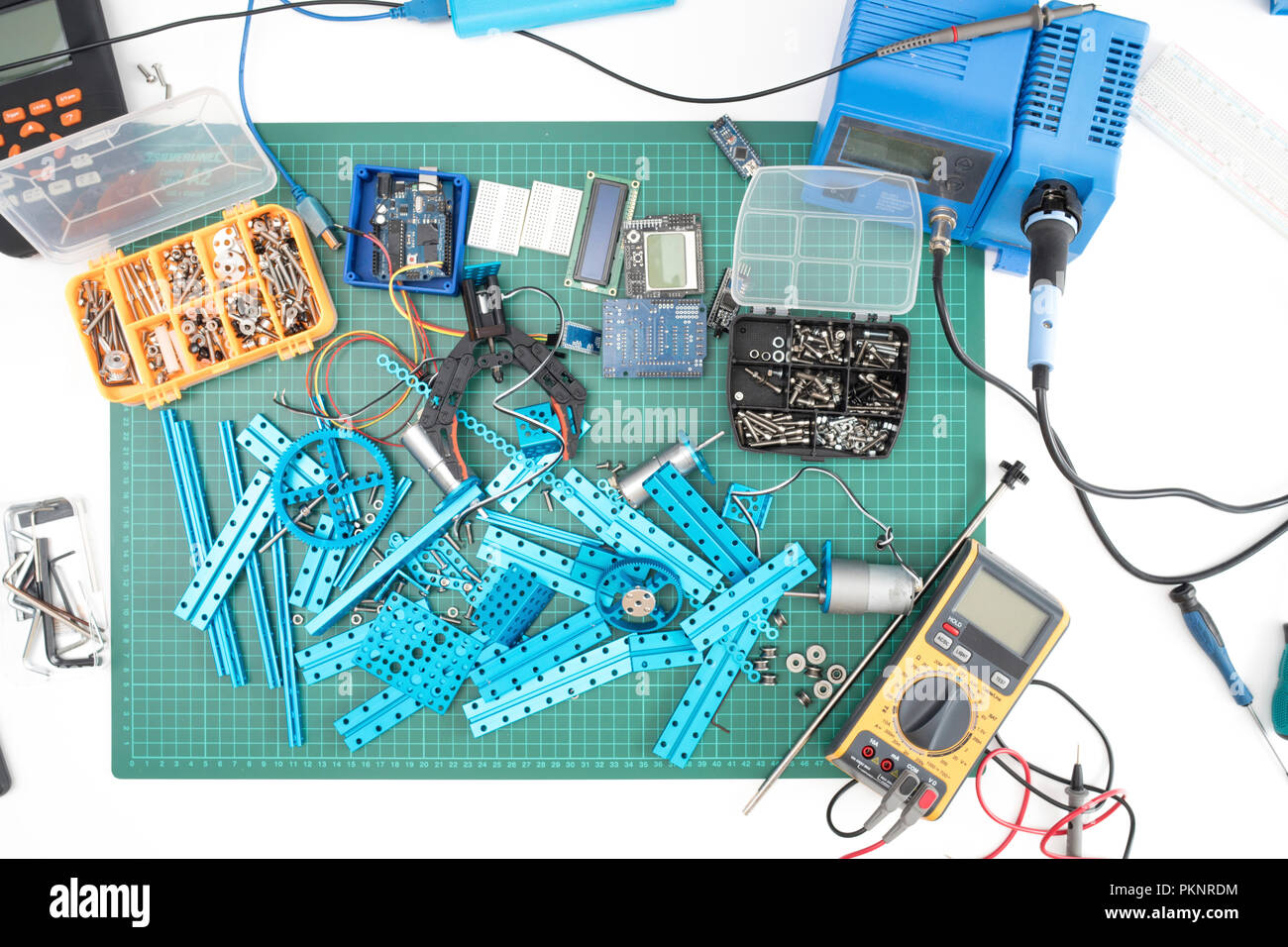 Electrical engineering, conceptual image. - Stock Image