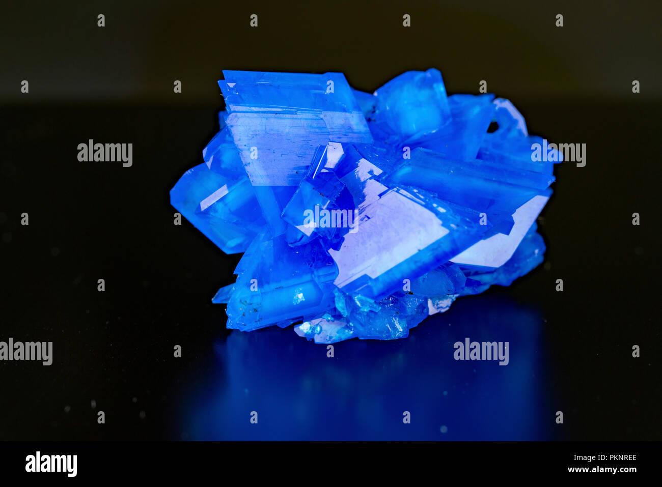 Blue mineral. - Stock Image