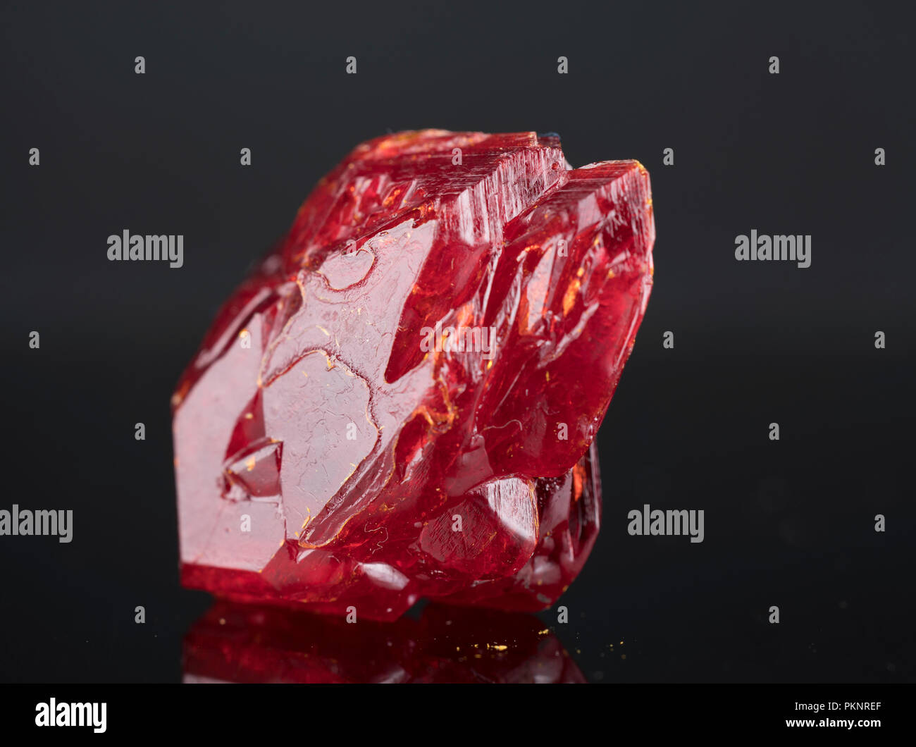 Red mineral. - Stock Image