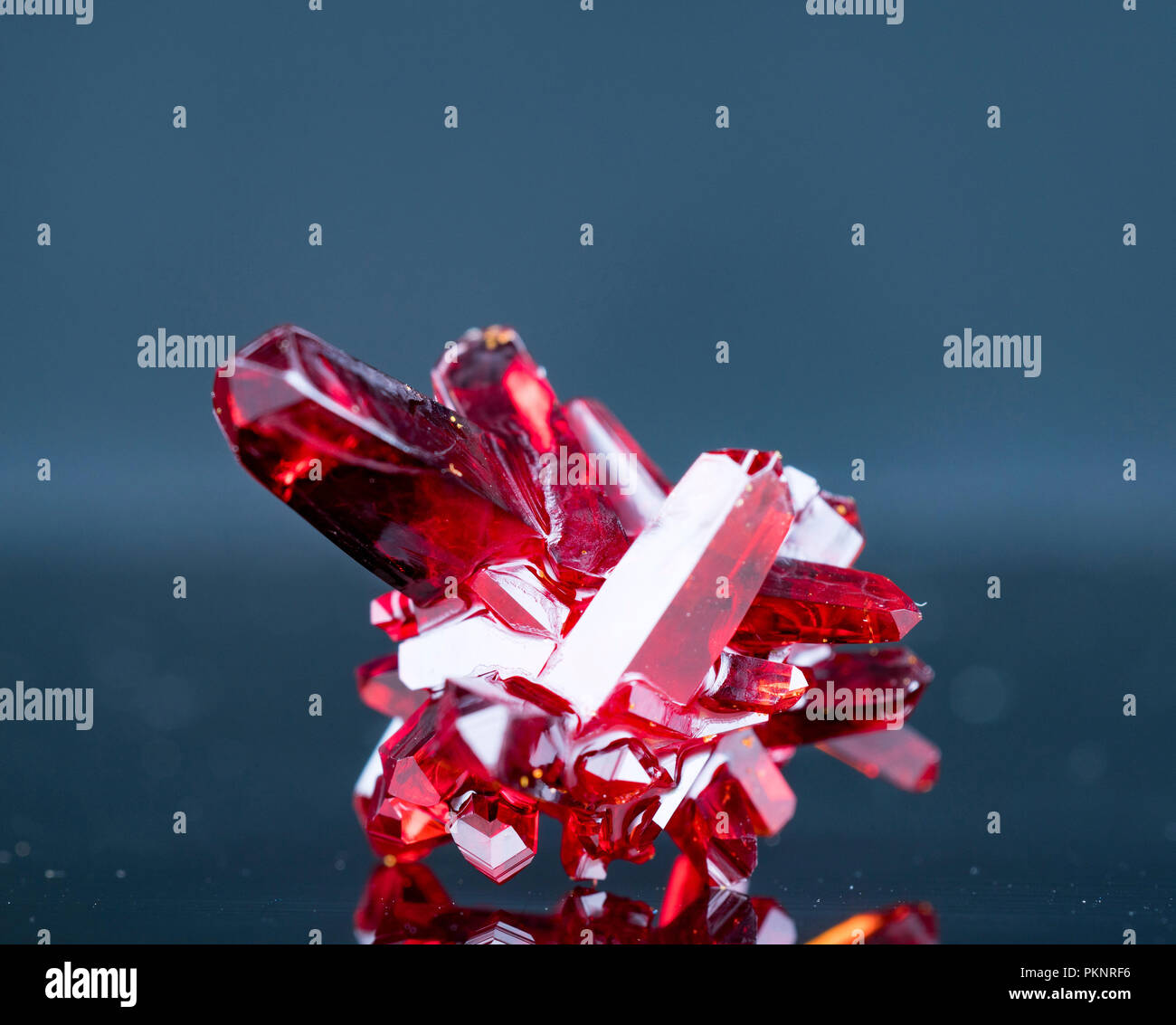 Red crystals. - Stock Image