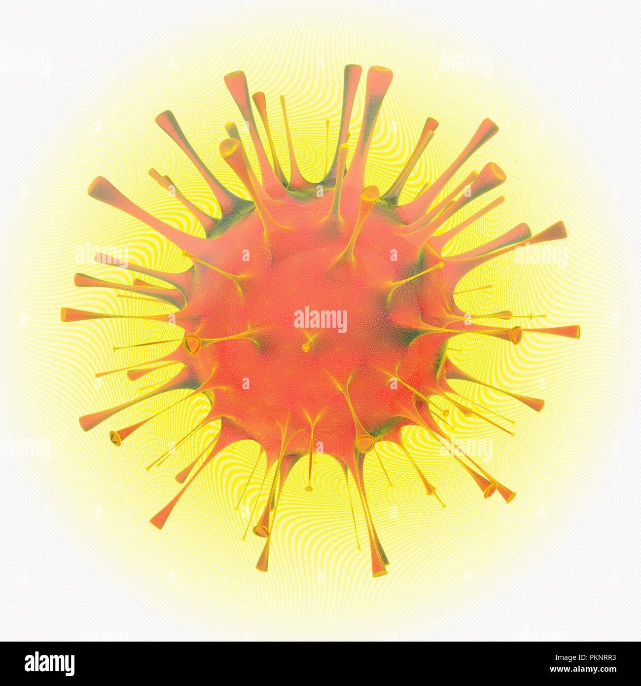 Orthomyxovirus, illustration. - Stock Image