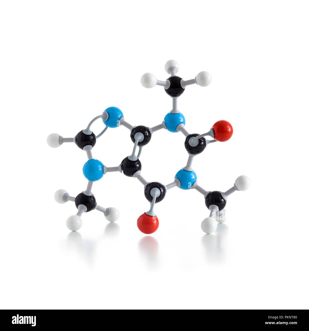 Molecular model against a white background. - Stock Image