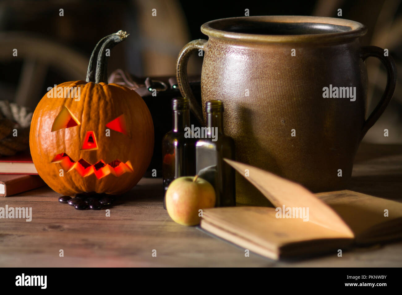 Remarkable Decorations On Halloween Celebration With Pumpkin Face Pot Download Free Architecture Designs Rallybritishbridgeorg