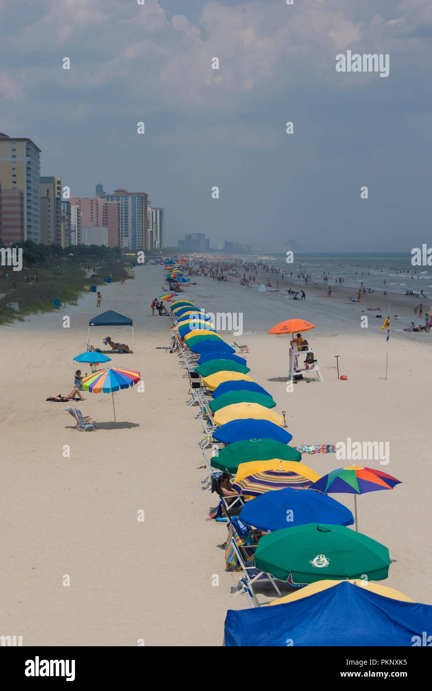 Myrtle Beach, South Carolina, shoreline photographed in 2008. - Stock Image