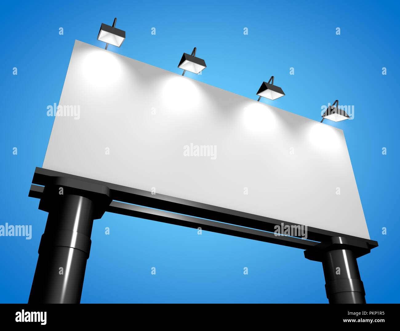Banner poster mock up Stock Photo