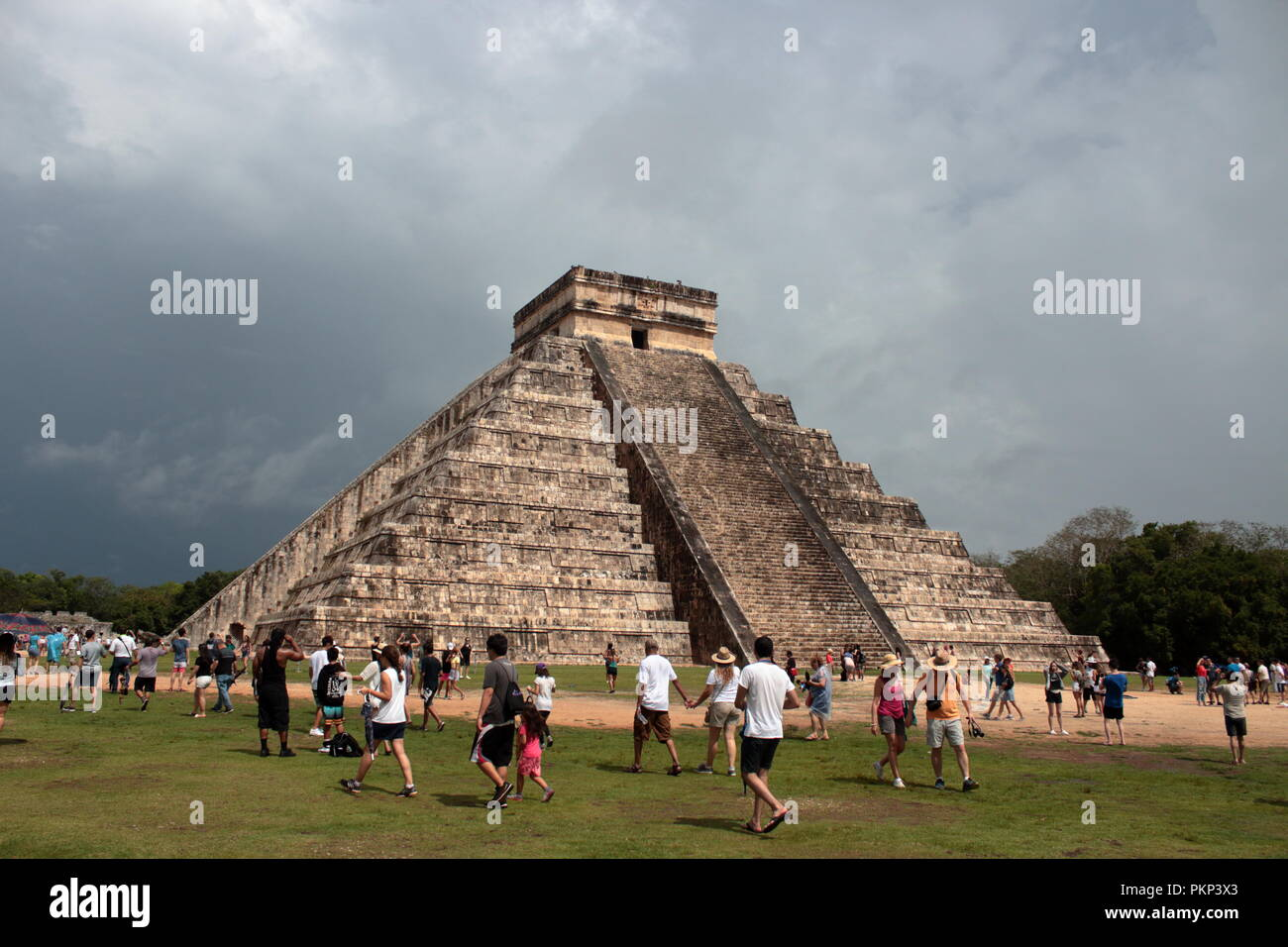 archaeological site of chechen Itzá city state of the Maya Stock Photo