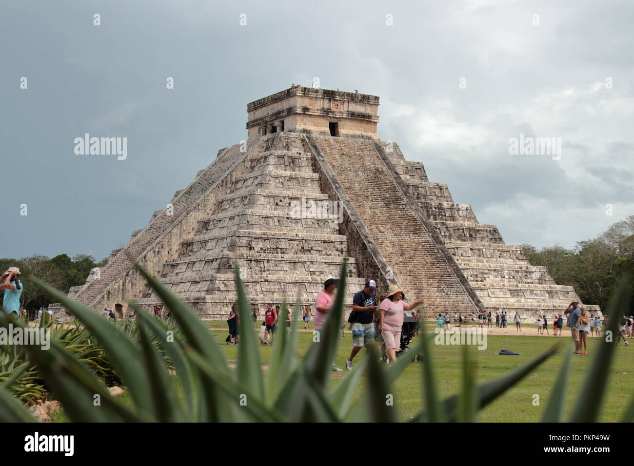 archaeological site of chechen Itzá city state of the Maya - Stock Image