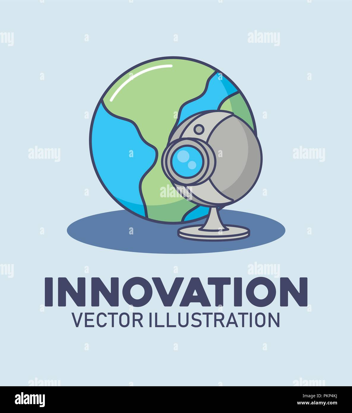 world web camera digital technology innovation vector illustration - Stock Image