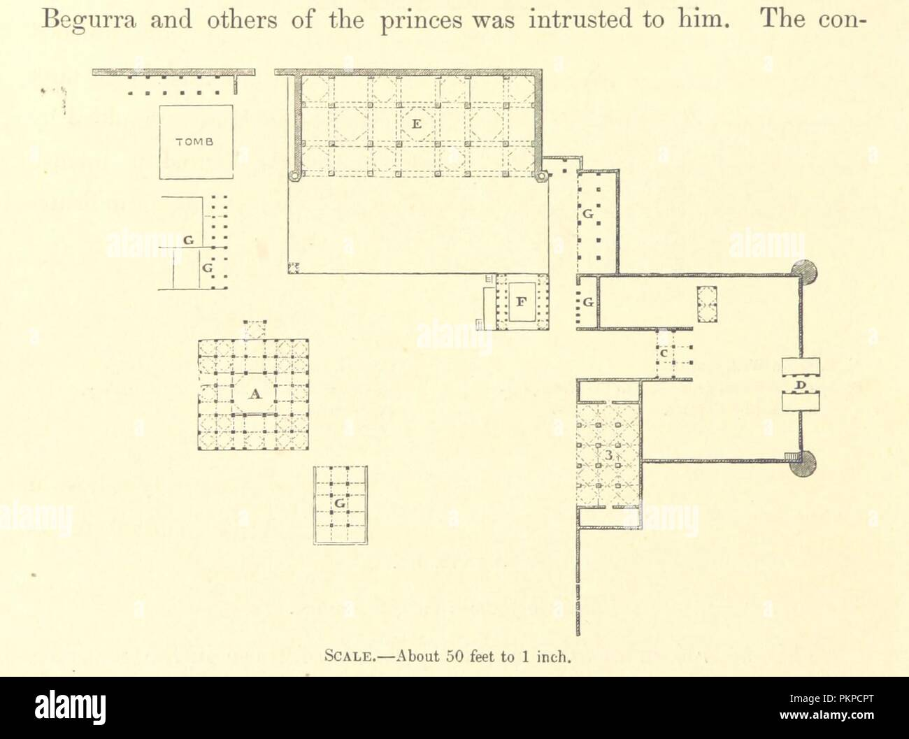 Image  from page 86 of 'Architecture at Ahmedabad, the Capital of Goozerat, photographed by Colonel Biggs, . With an historical and descriptive sketch, by T. C. H., . and architectural notes by J. Fergusson, etc' by The B0026. - Stock Image