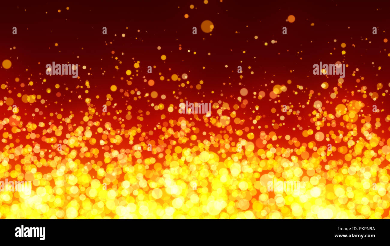 Abstract Background With Fiery Particles Glitter Wave Effect