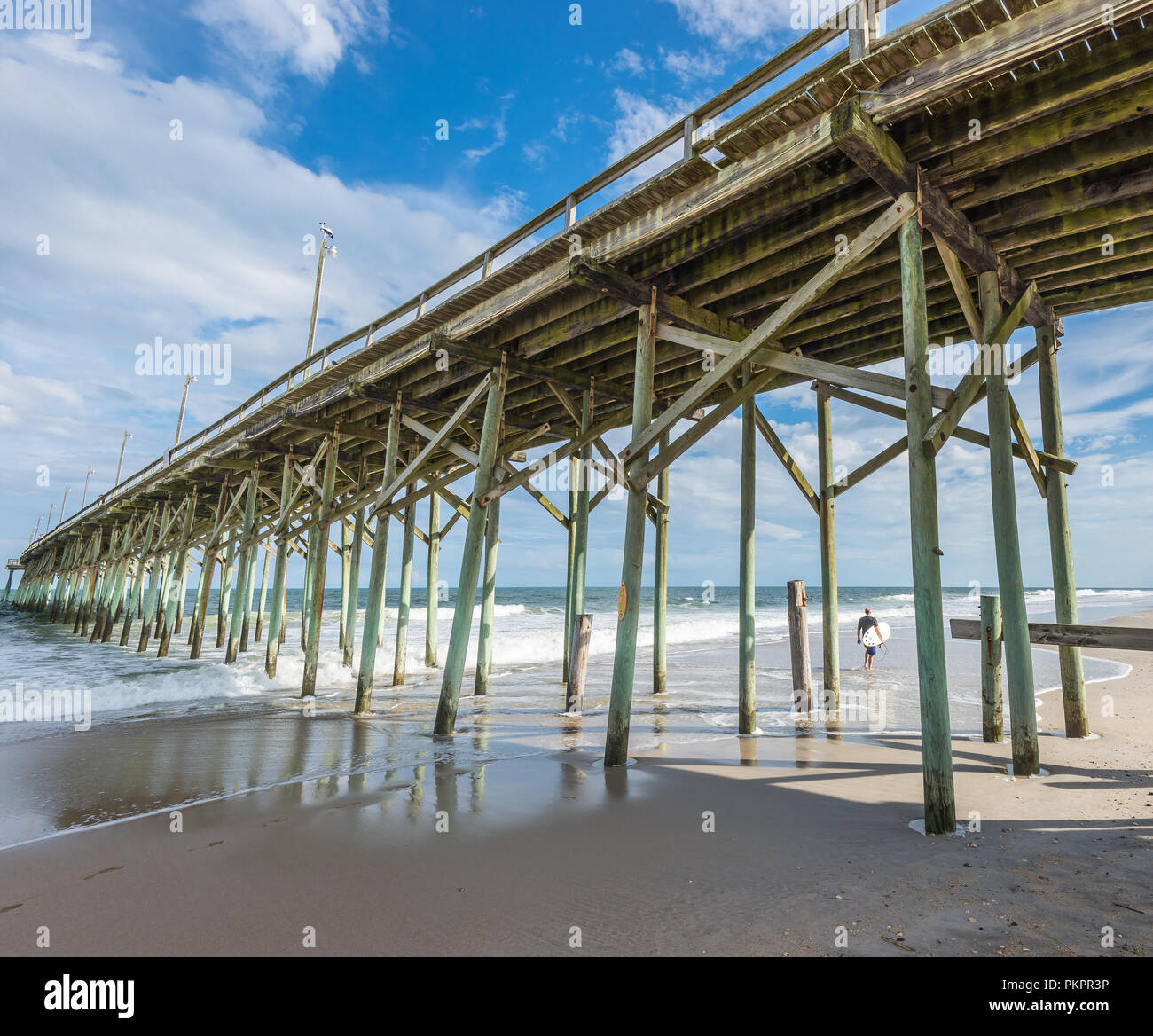 Underneath Wooden Jetty Structure Wooden Stock Photos