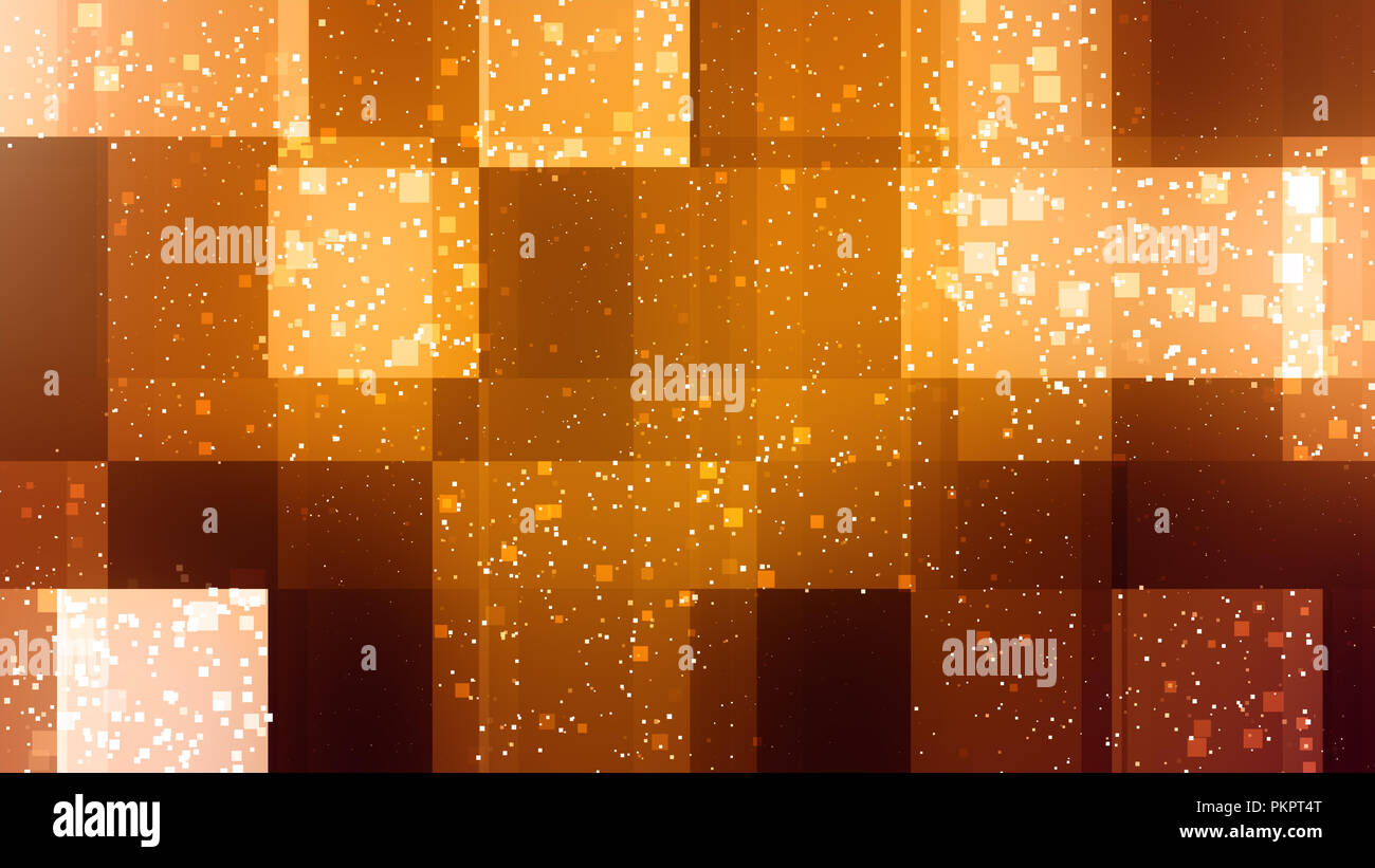 Abstract boxes and particles background which is 8K hd at 300dpi - Stock Image