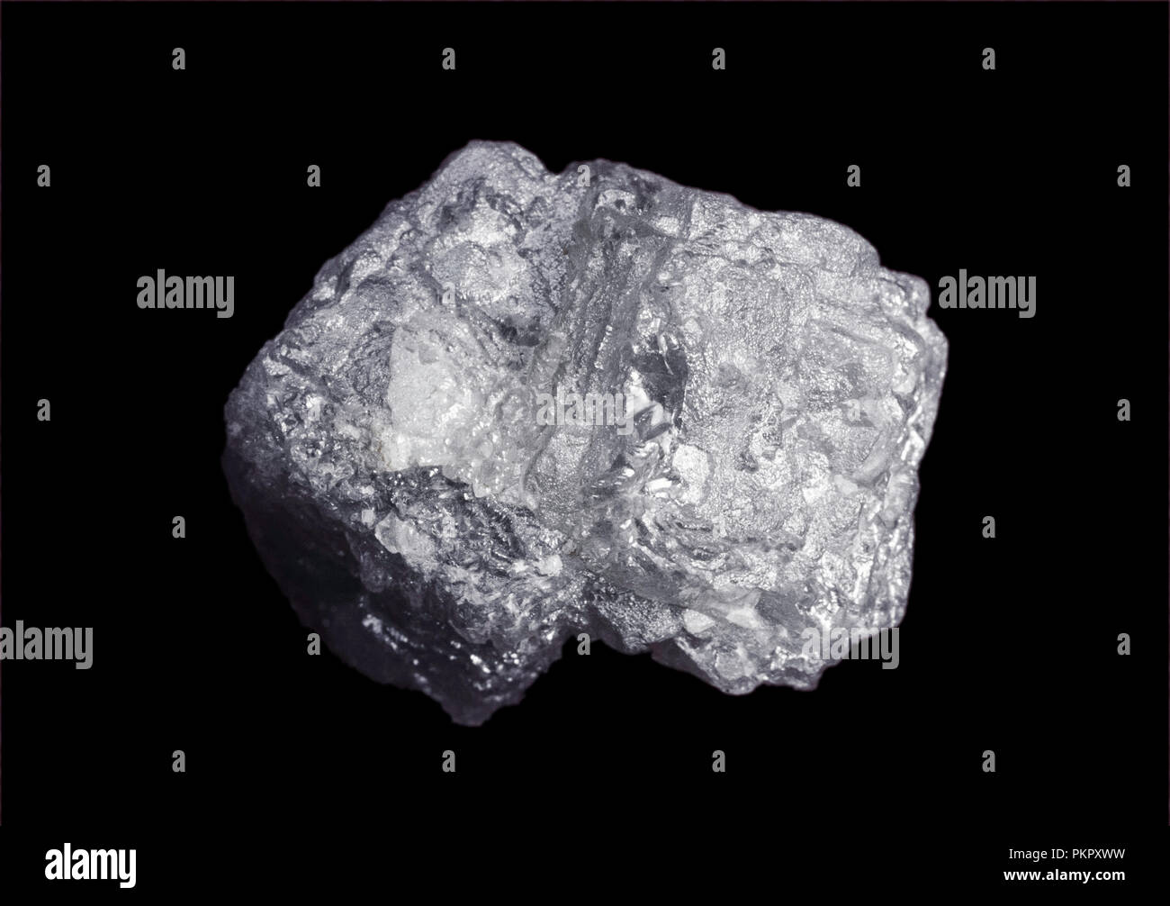 Uncut industrial grade diamond on black background, South Africa - Stock Image