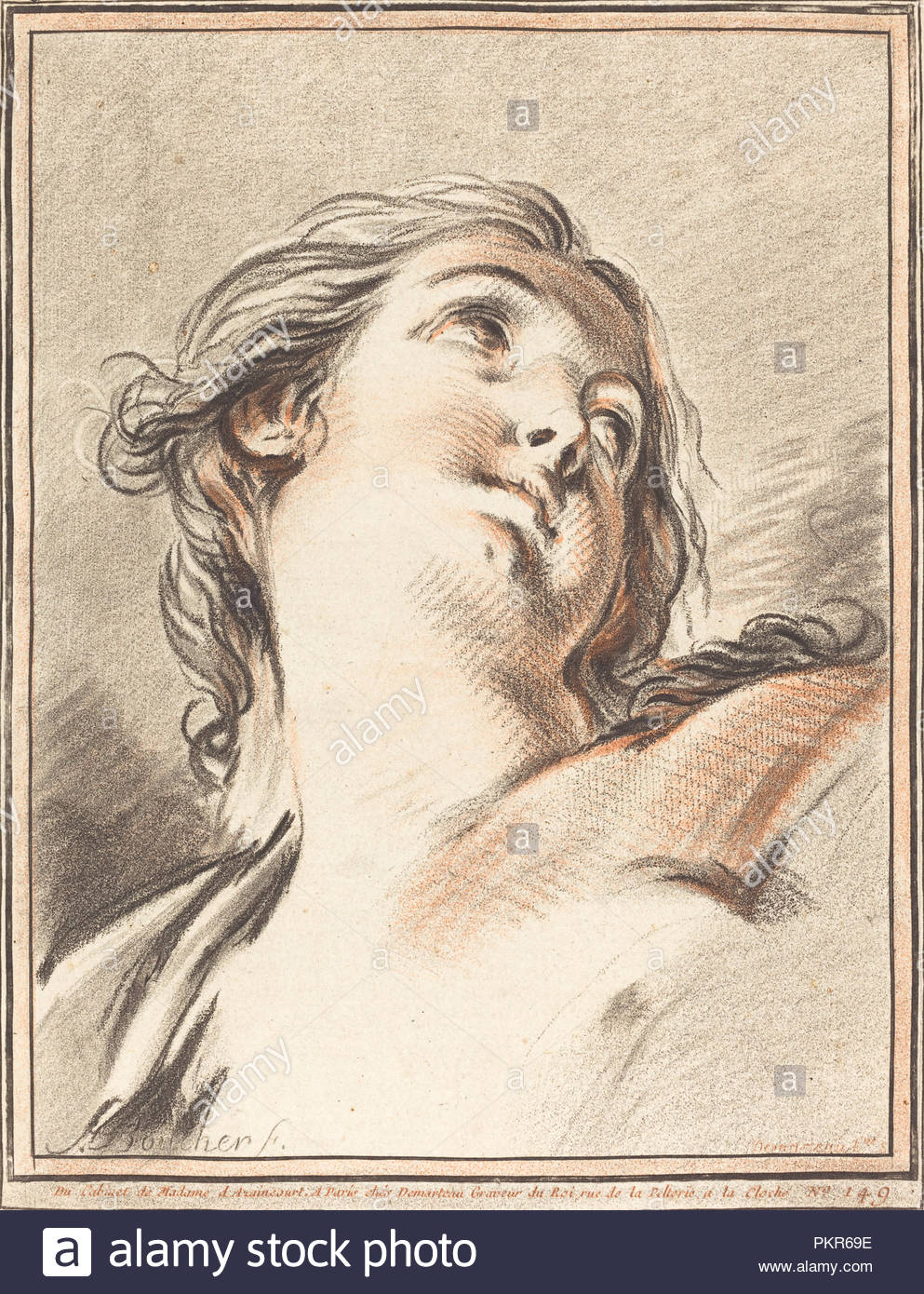 Head of a Woman Looking Up. Dated: 1767. Dimensions: Overall (3rd ...