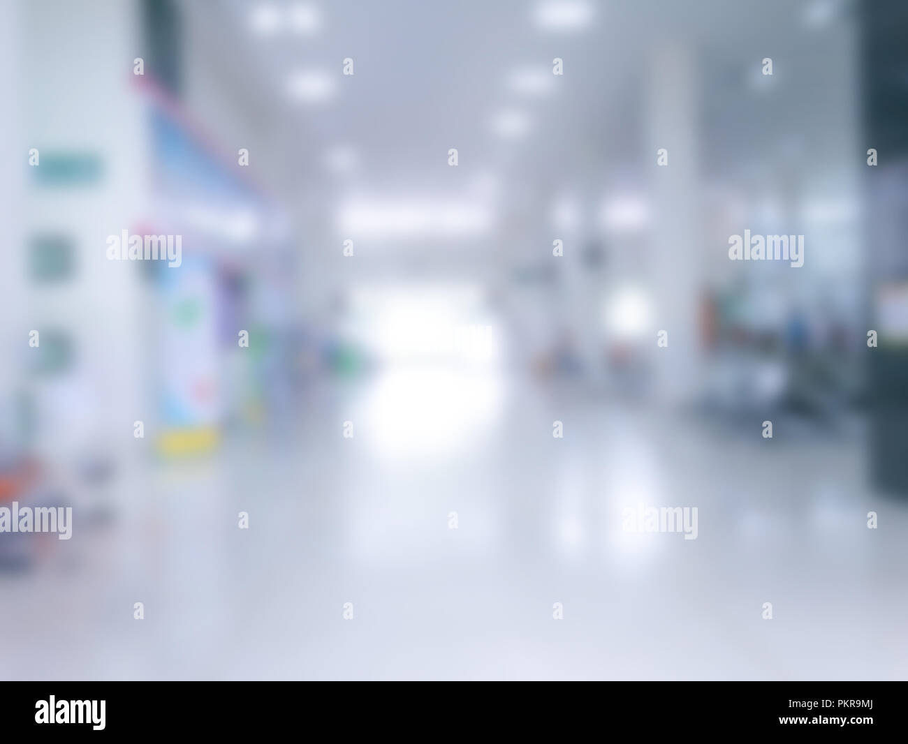 blurry out patient department of hospital, blurred picture of helth center - Stock Image