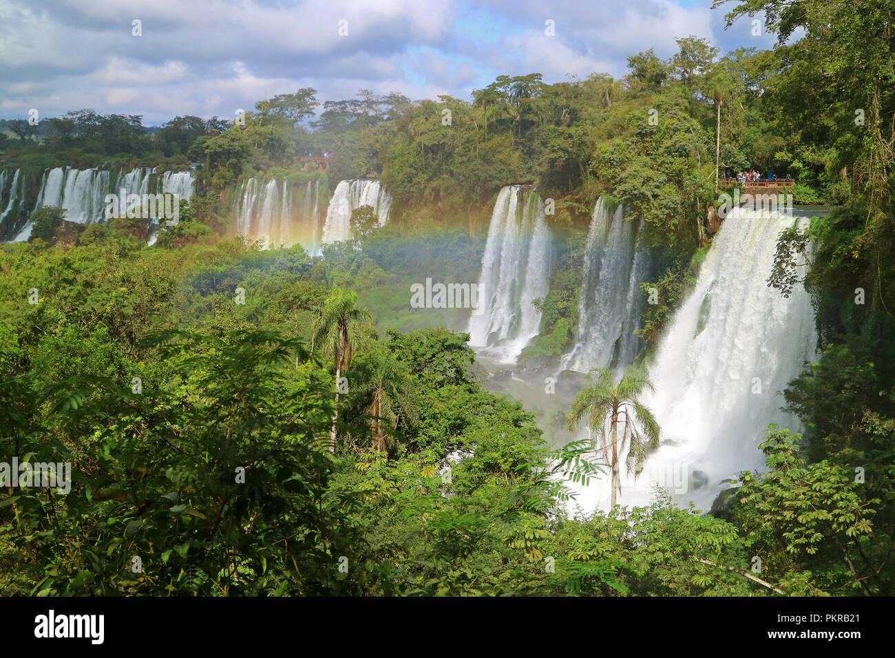 Cataratas del Iguazu or Iguazu Falls at Argentinian side, UNESCO World Heritage in Puerto Iguazu, Argentina - Stock Image
