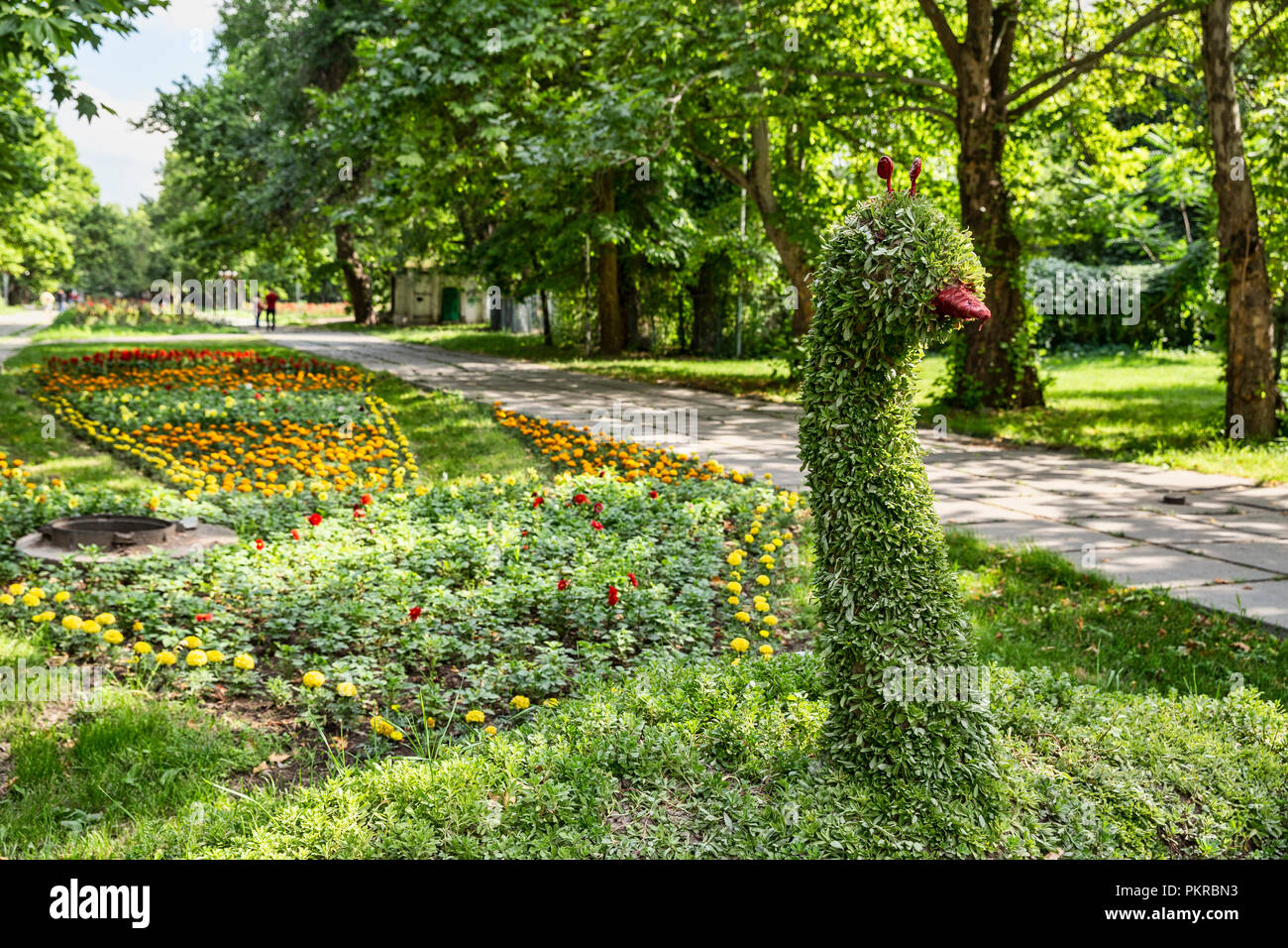 Images of Таттыбюбю ТурсунбаевойPanfilov Square in Bishkek, the wonderful, walkable capital of Kyrgyzstan. - Stock Image