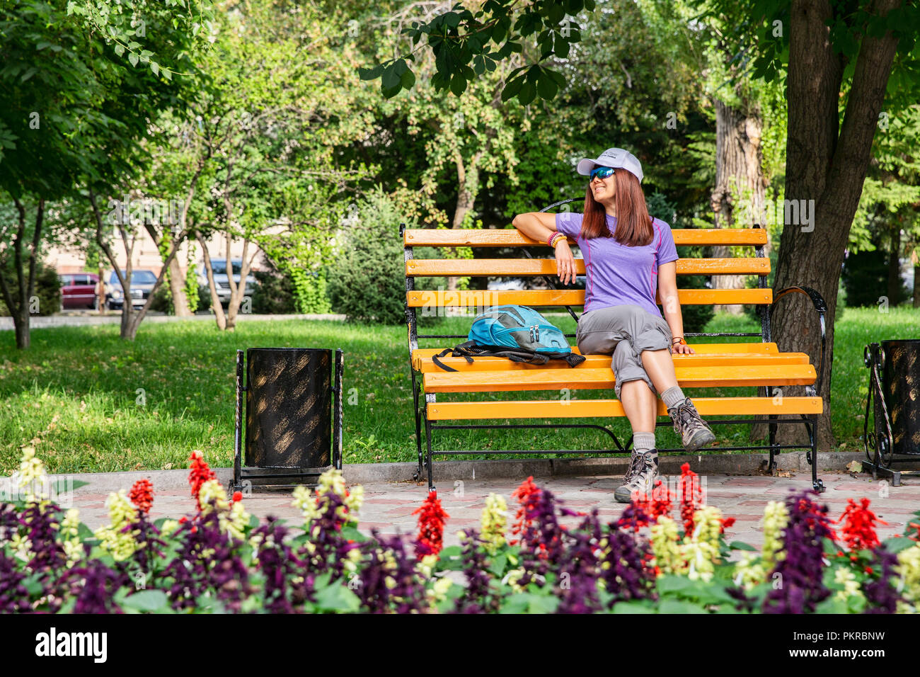 Images of Таттыбюбю ТурсунбаевойPanfilov Square in Bishkek, the wonderful, walkable capital of Kyrgyzstan. Stock Photo