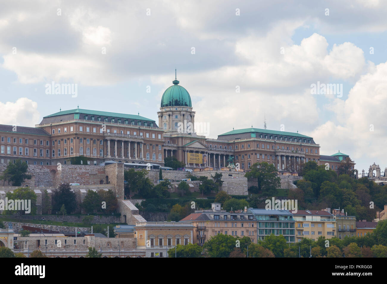 Royal palace castle budapest hungary view sky cloud Stock Photo