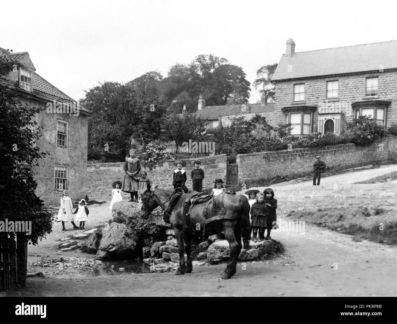 Maltby Well, early 1900s - Stock Image