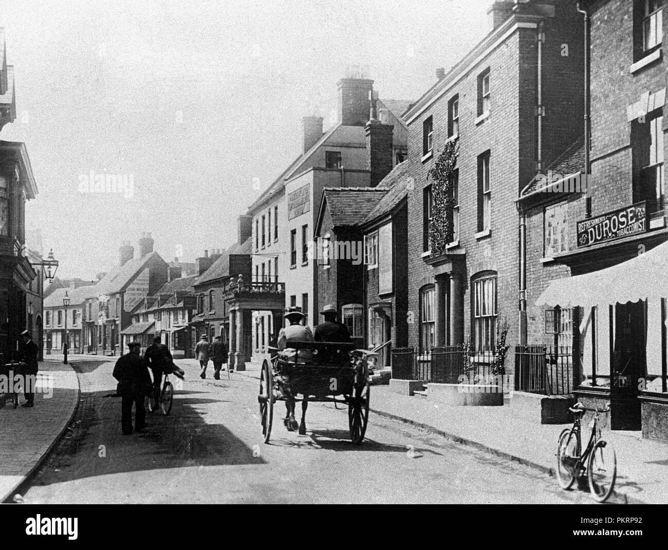Carter Street, Uttoxeter, early 1900s - Stock Image