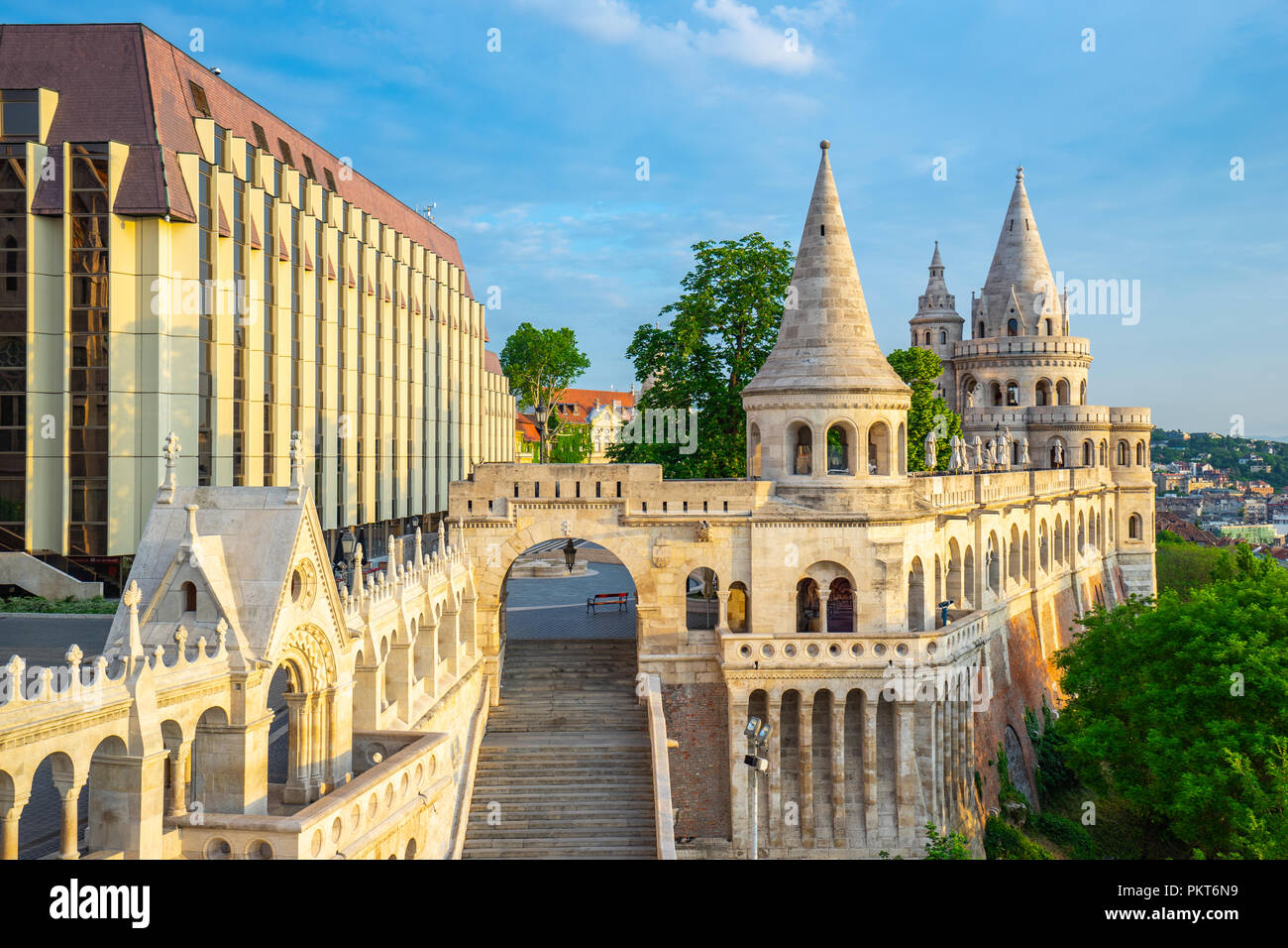Fisherman's Bastion in Budapest city, Hungary. - Stock Image