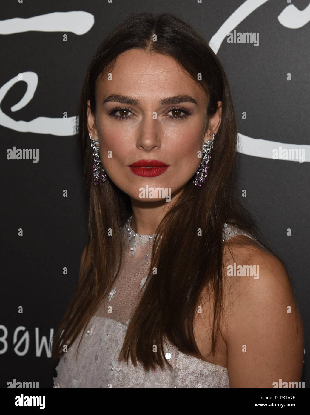 Beverly Hills, California, USA. 14th Sep, 2018. KEIRA KNIGHTLEY attends the Premiere Of Bleecker Street Media's 'Colette' at Samuel Goldwyn Theater in Beverly Hills. Credit: Billy Bennight/ZUMA Wire/Alamy Live News - Stock Image