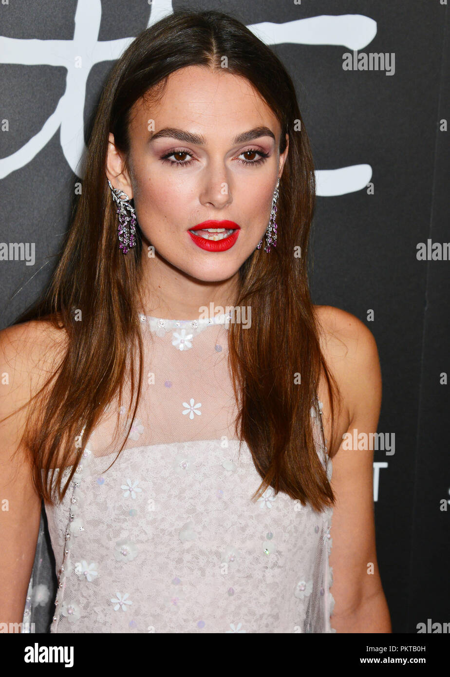 Keira Knightley 016 attends the premiere of Bleecker Street Media's 'Colette' at Samuel Goldwyn Theater on September 14, 2018 in Beverly Hills, California - Stock Image