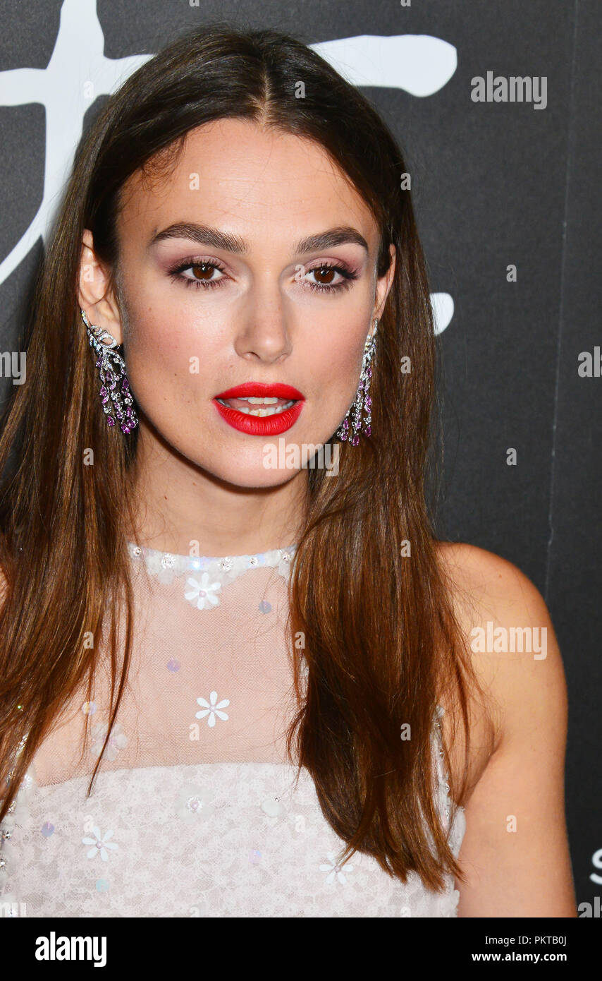 Keira Knightley 017 attends the premiere of Bleecker Street Media's 'Colette' at Samuel Goldwyn Theater on September 14, 2018 in Beverly Hills, California - Stock Image