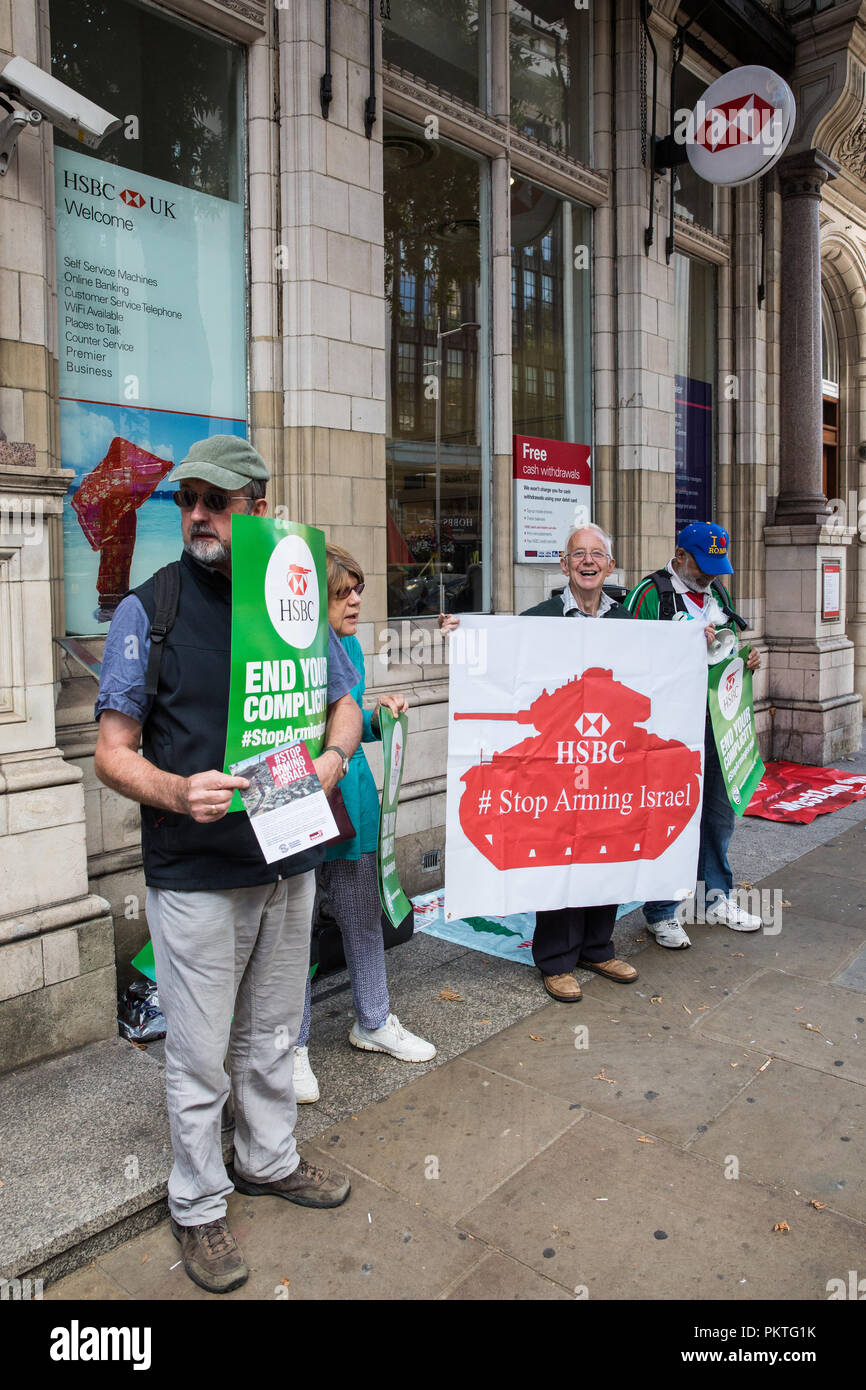 London, UK  15th September, 2018  Activists from Palestine