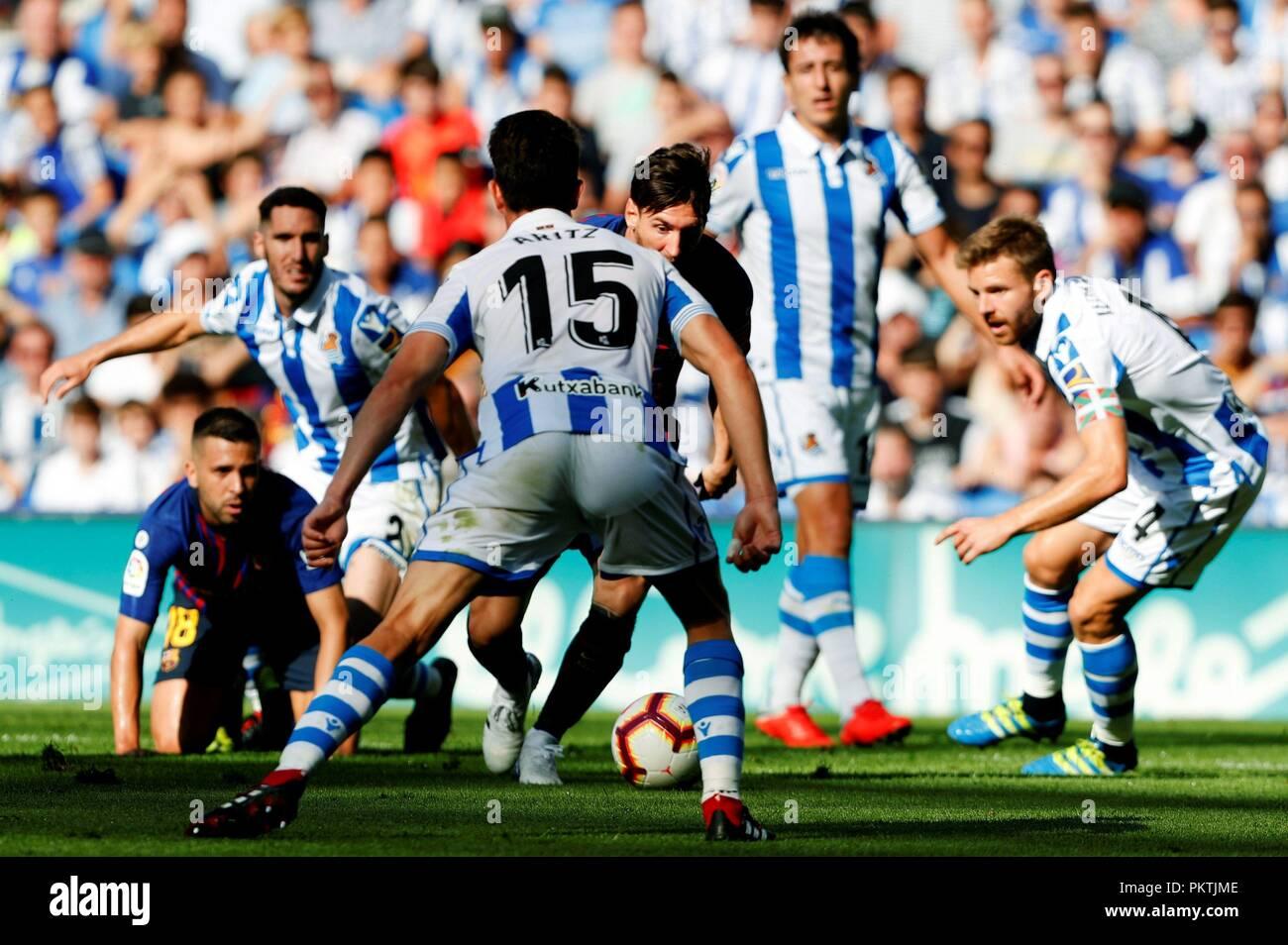 san sebastian, spain 15th sep, 2018 fc barcelona's spanish primera division primera division c 15 #15