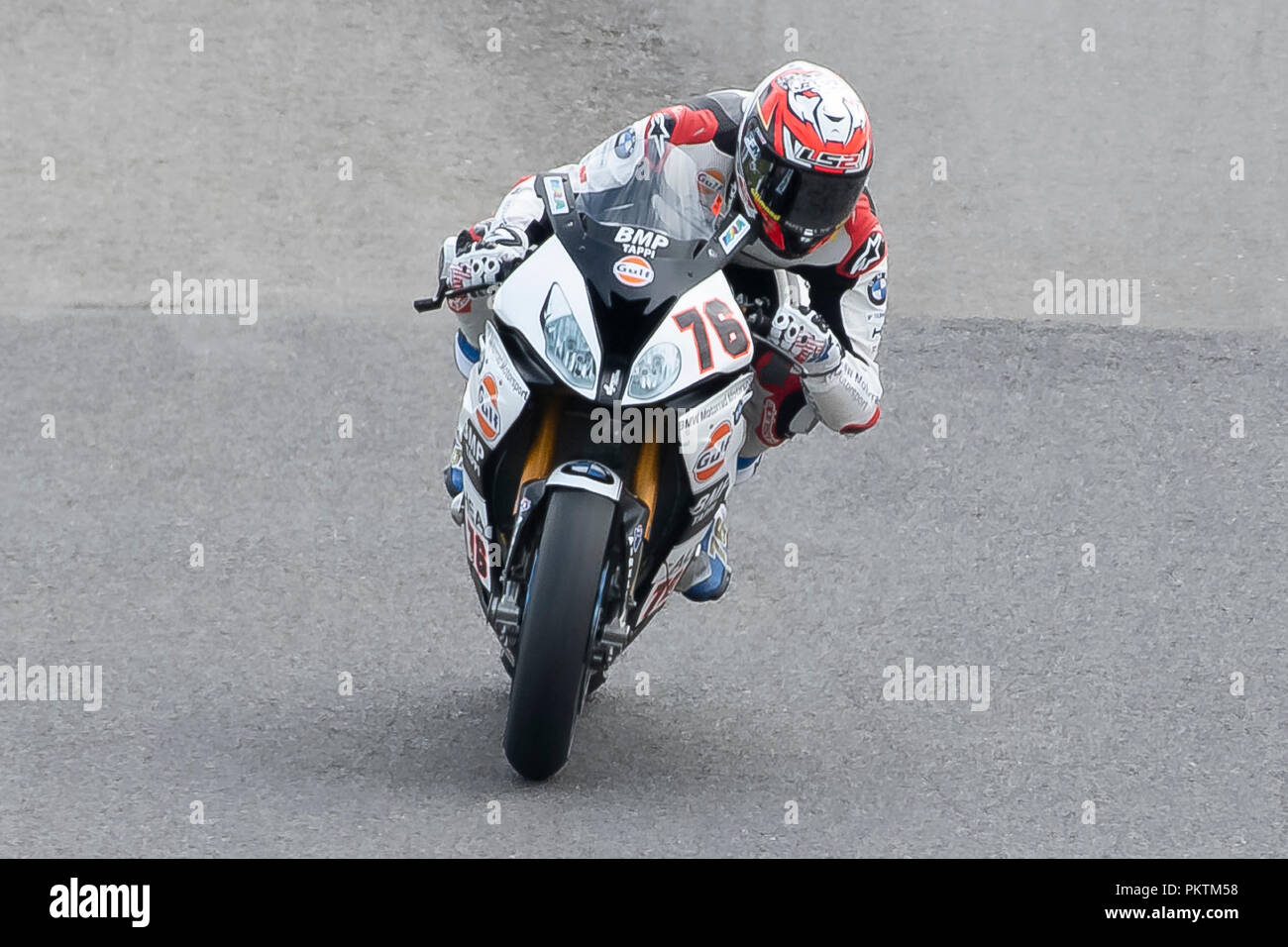 Algarve, Portugal. 15th Sep 2018. 76 Loris Baz Team GULF ALTHEA BMW RACING TEAM   during the World Superbikes race at Autodromo Internacional do Algarve, 14-16 September 2018 in Algarve, Portugal. Credit: Fabio Averna/Alamy Live News Stock Photo