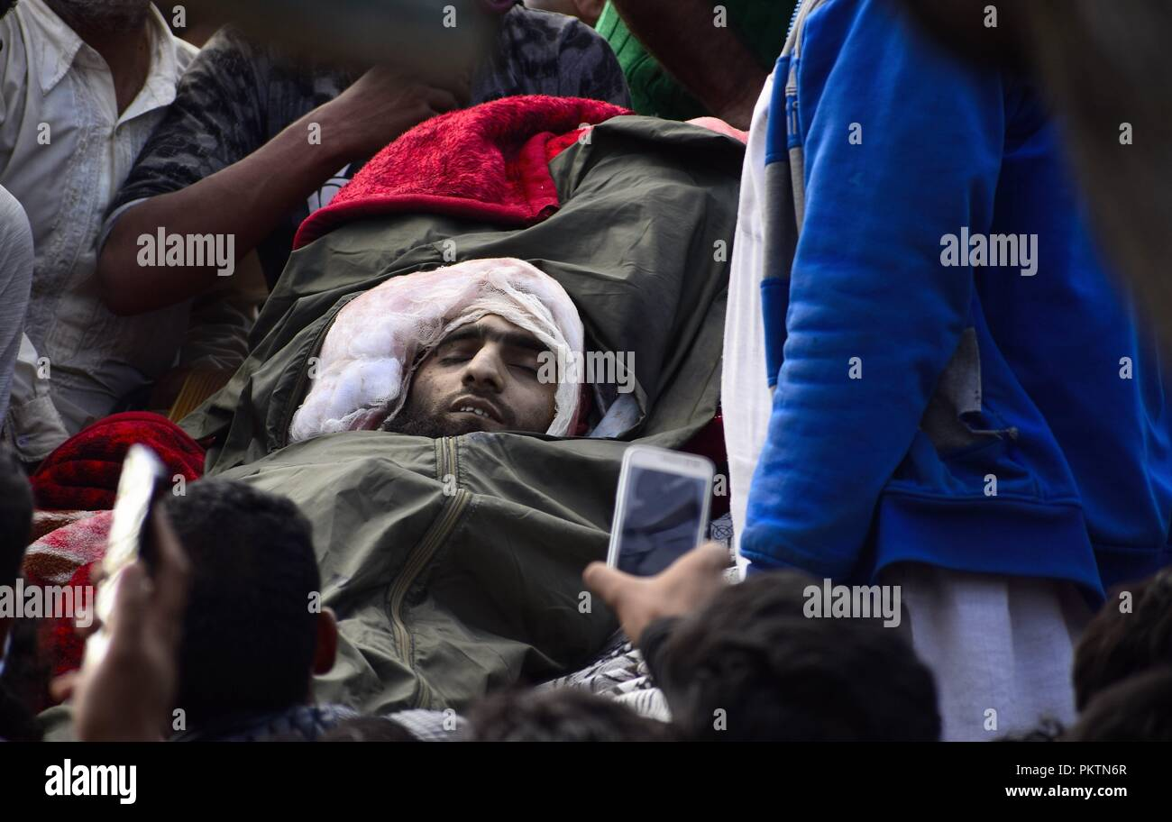 Kulgam Kashmir India 15th Sep 2018 Body Of Top Hizb Commander Rebel Wiring Harness Instructions Gulzar Ahmad Padder Alias Saif In Adijan Village Indian Administered On Saturday September 15