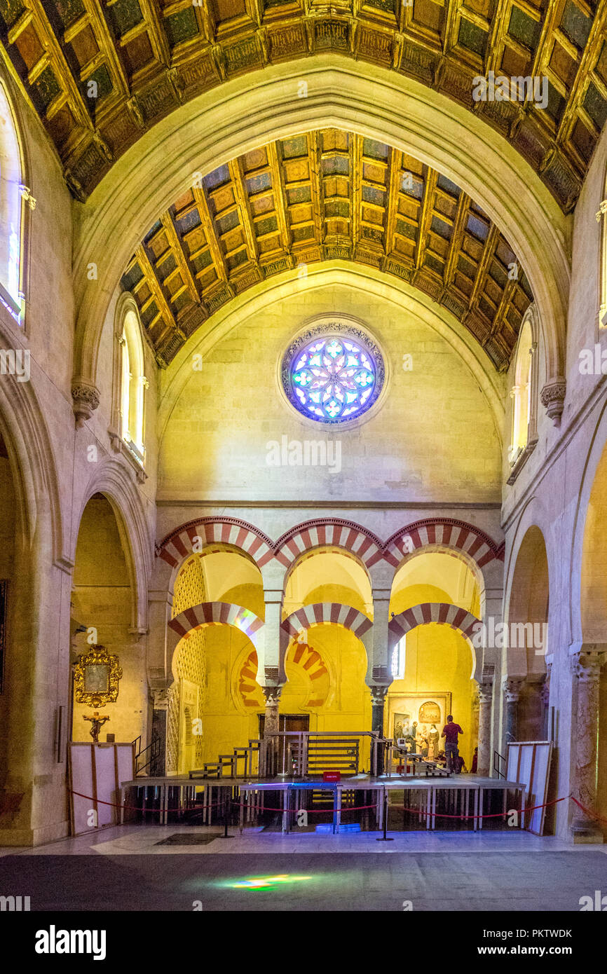 Cathedral Ceiling Great Mosque Cordoba High Resolution Stock Photography And Images Alamy