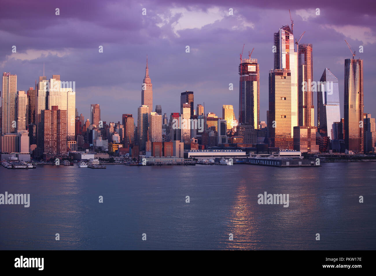 Manhattan Skyline from NewJersey, New York City - Stock Image