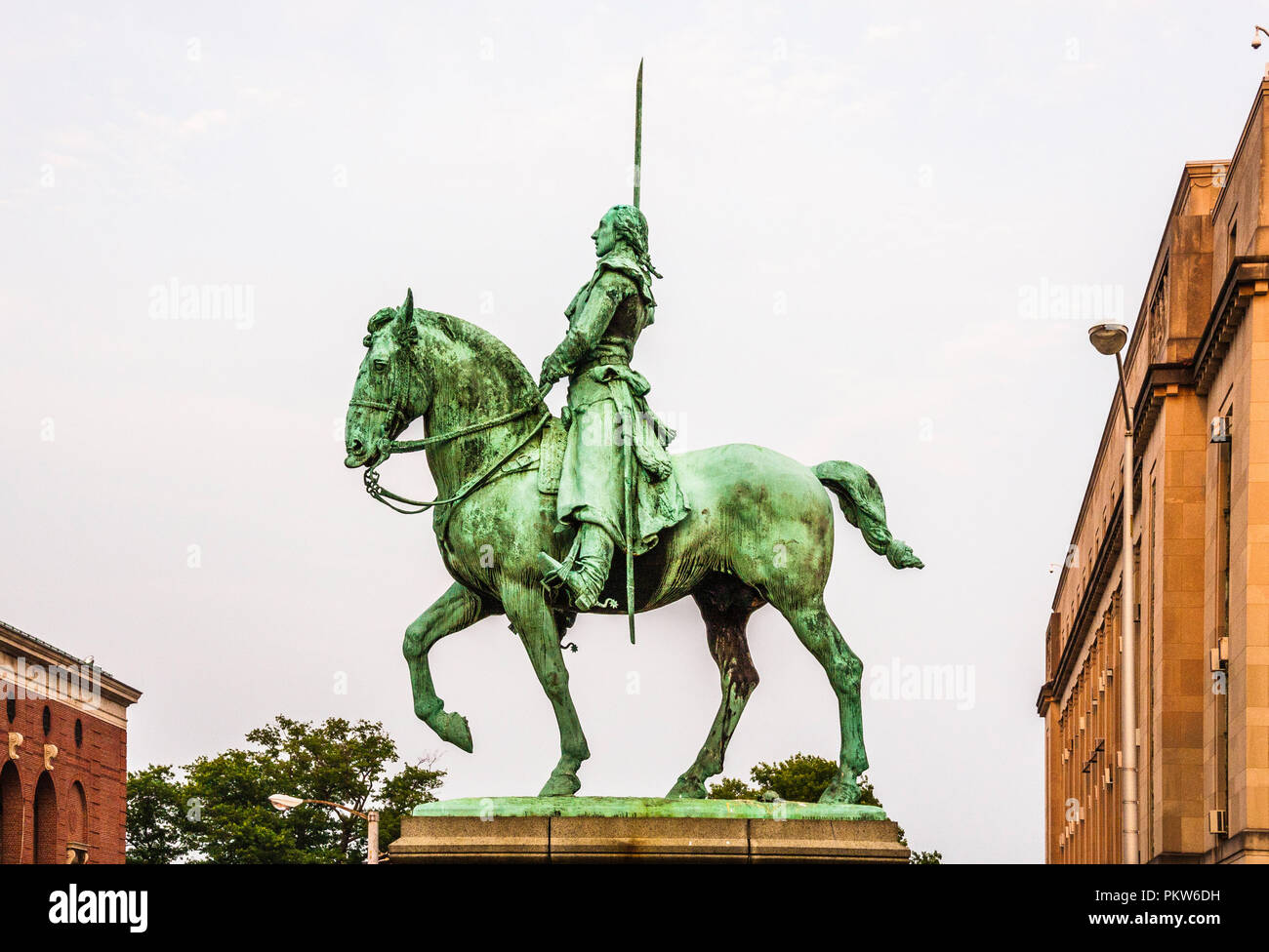 Marquis de Lafayette Connecticut State Capitol _ Hartford, Connecticut, USA - Stock Image