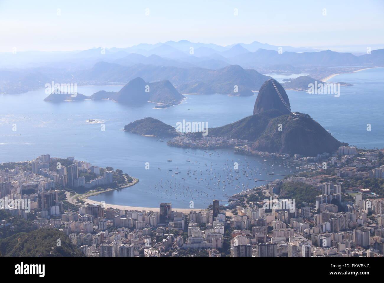 View From Corcovado Rio de Janeiro - Stock Image