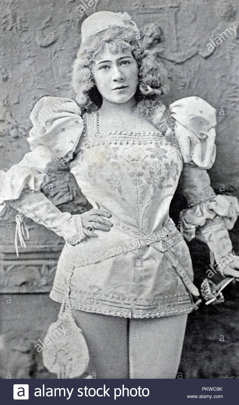 Marie Tempest portrait, 1864 – 1942, was an English singer and actress, photograph from 1890s - Stock Image