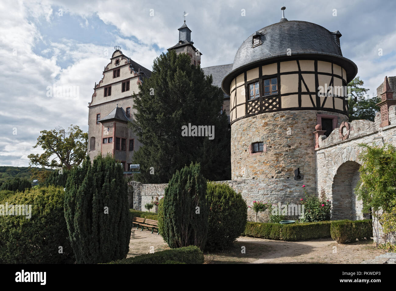 High Middle Ages Rock castle in Kronberg im Taunus, Hesse, Germany. - Stock Image