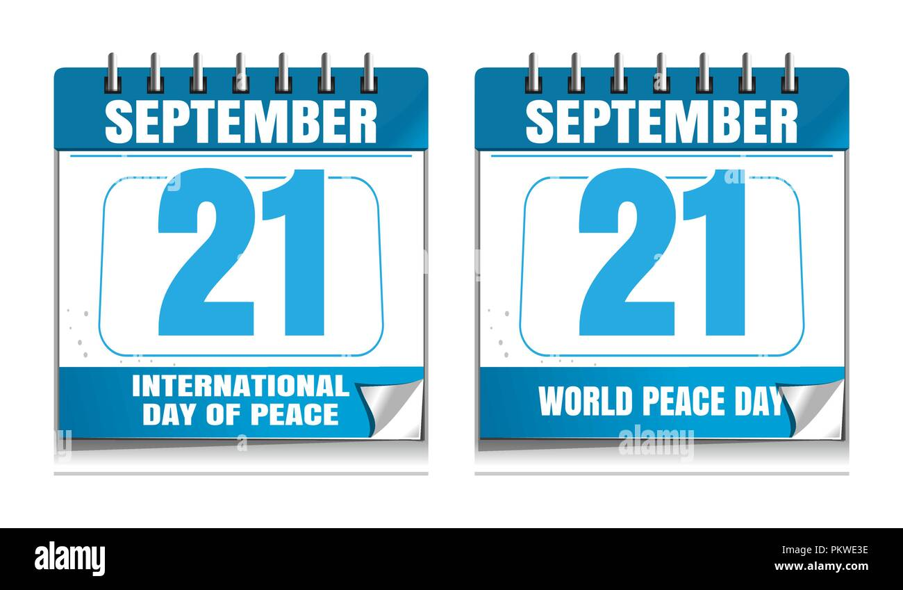 International Day Of Peace Known As World Peace Day Wall Calendar
