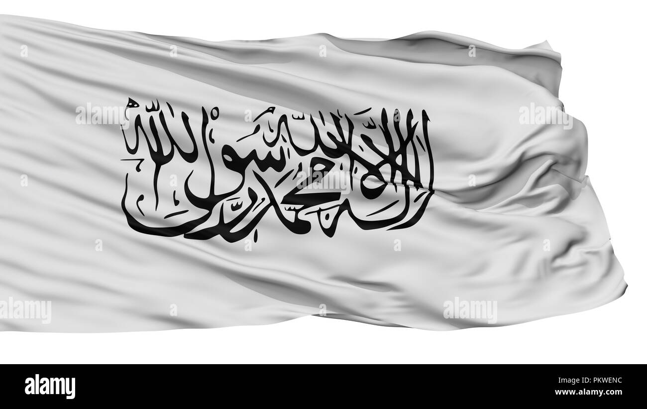 Taliban Flag Isolated On White Background 3d Rendering Stock Photo Alamy