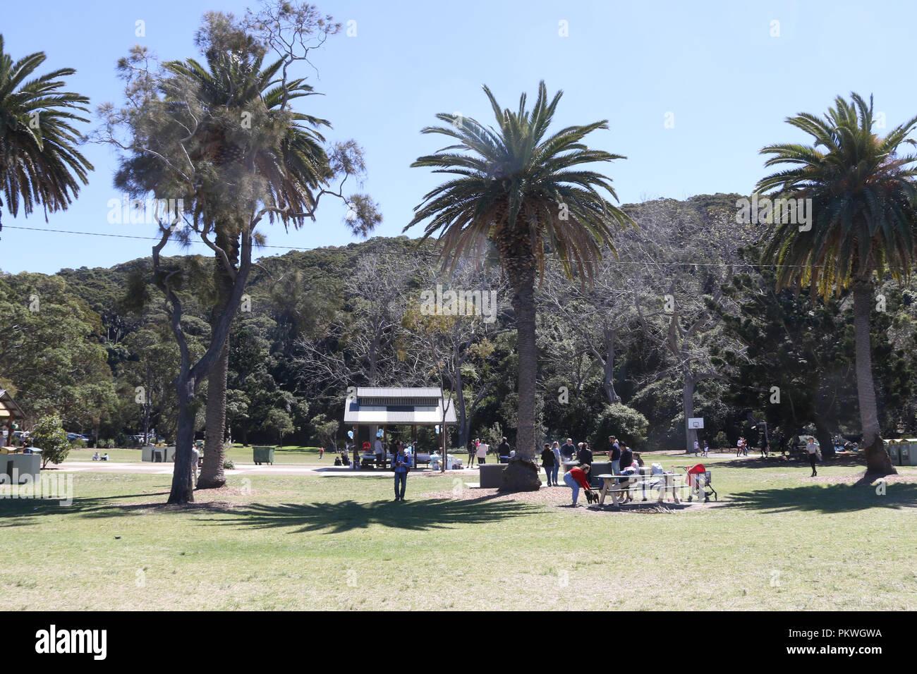 Clifton Gardens Reserve, Mosman on Sydney's lower north shore. - Stock Image